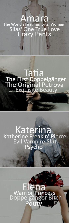TVD characters _Amara/Tatia/Katerina/Elena_ - The Petrova Doppelgangers - Work: D.A.