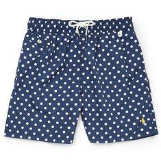 Polo Ralph LaurenMid-Length Polka-Dot Swim Shorts