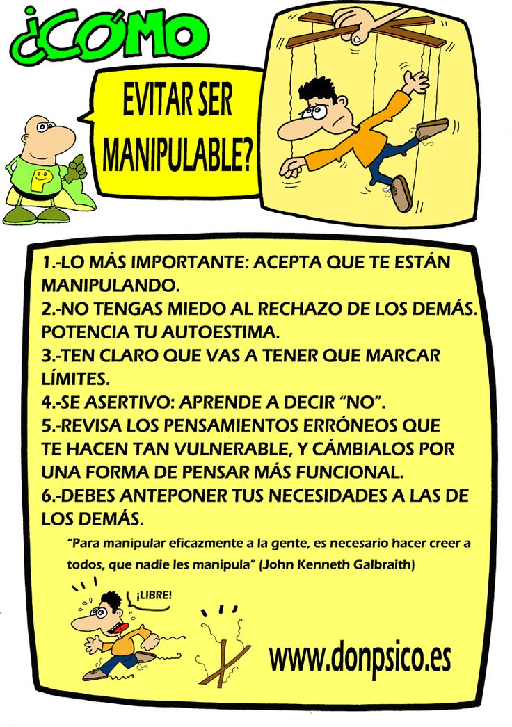 ¿Cómo evitar ser manipulables?
