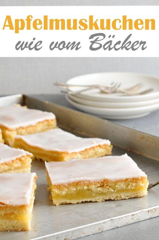 Apfelmuskuchen wie vom Bäcker, gedeckter Apfelkuchen mit selbst gekochtem Apfel…