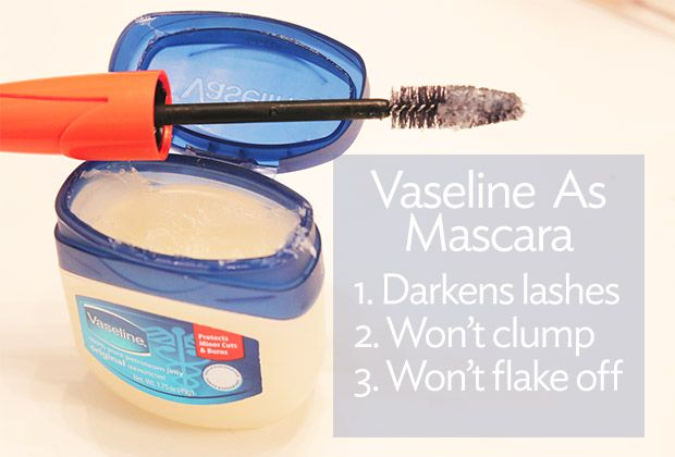 Try using vaseline instead of mascara! | Broke But Bougie