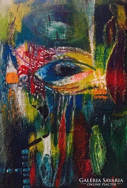 Eredeti absztrakt festmény, original painting, abstract art