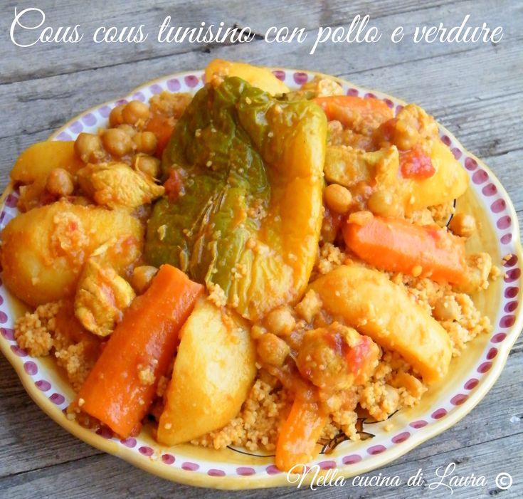 COUS+COUS+TUNISINO+CON+POLLO+E+VERDURE / Tunisialainen kuskus jossa kanaa ja vihanneksia