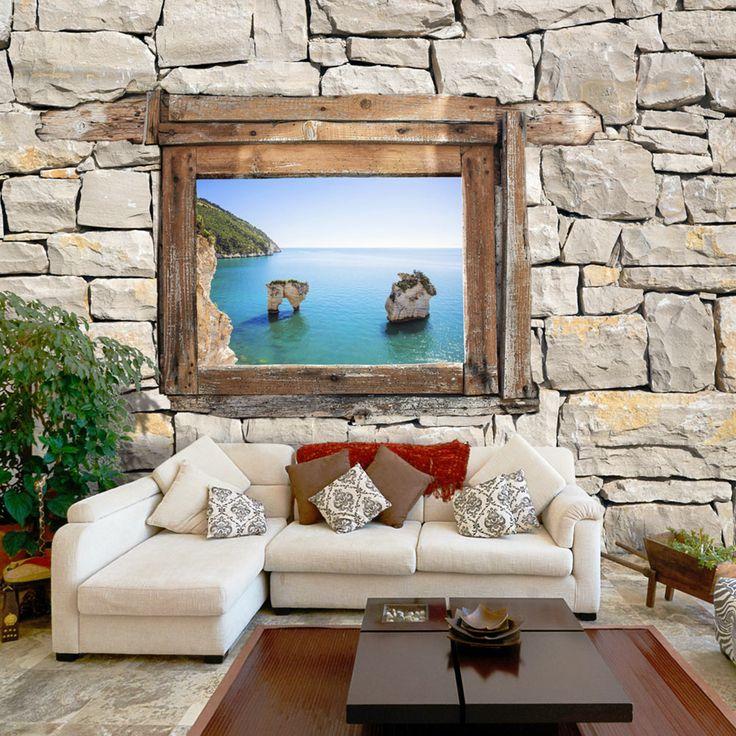 """Fototapete """"Zagare Bay"""" ⚶⚶⚶ Motive der Fototapete: Meer, Italien, Landschaft, Natur. Holen Sie sich die grenzenlose Freiheit und Schönheit der Natur in die eigenen vier Wände. Wow-Effekt garantiert! ⚶⚶⚶"""