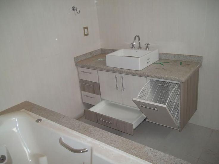 Gabinete Para Banheiro: Gabinetes para banheiro planejados