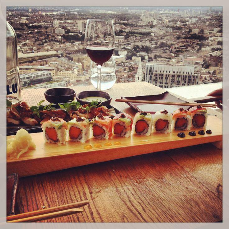 Sushi samba London - enjoyed every bite overlooking that view... Beautiful evening