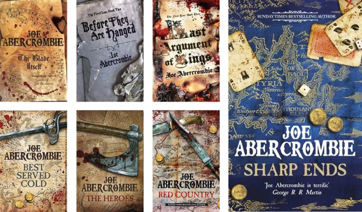 Books by Proxy   Cover Reveal: Sharp Ends by Joe Abercrombie – The First Law Gollancz UK Editions