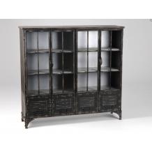 Bibliothèque en métal vieilli de style industriel