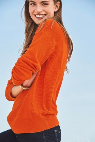 062fcce4c759 orange cosy boat neck sweater new in at Next