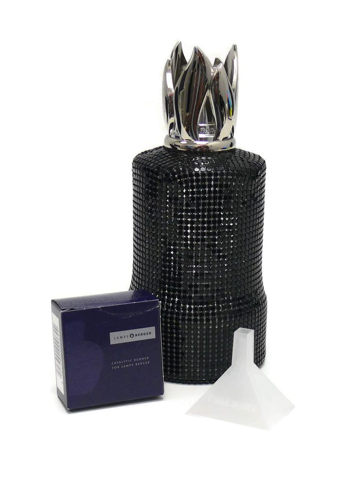 Nice Lampe Berger Fragrance Lamp Maille Noire Baroque Black Beaded LampeBerger