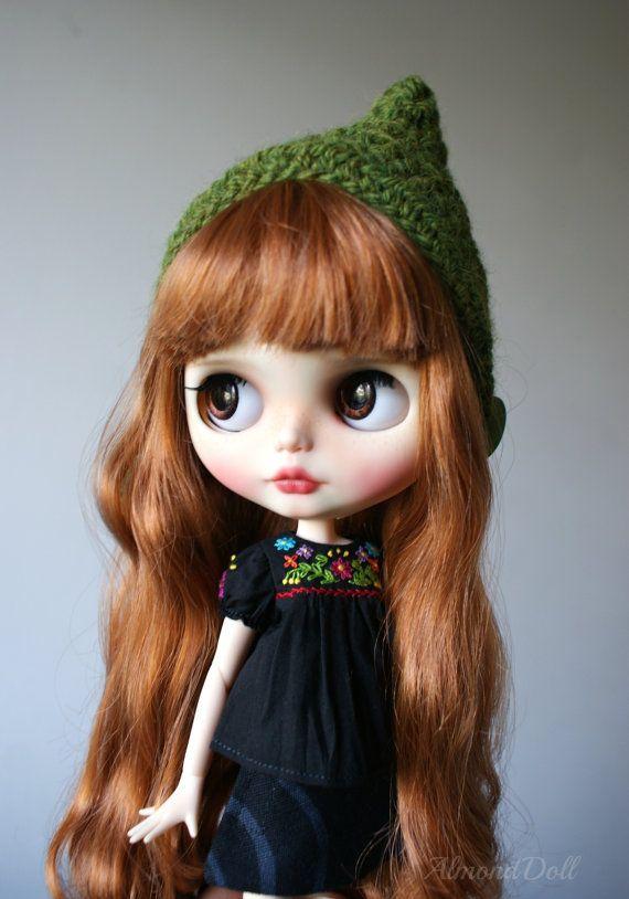 Kaylee zakázku OOAK blythe doll jedinečné umělecké panenky podle AlmondDoll