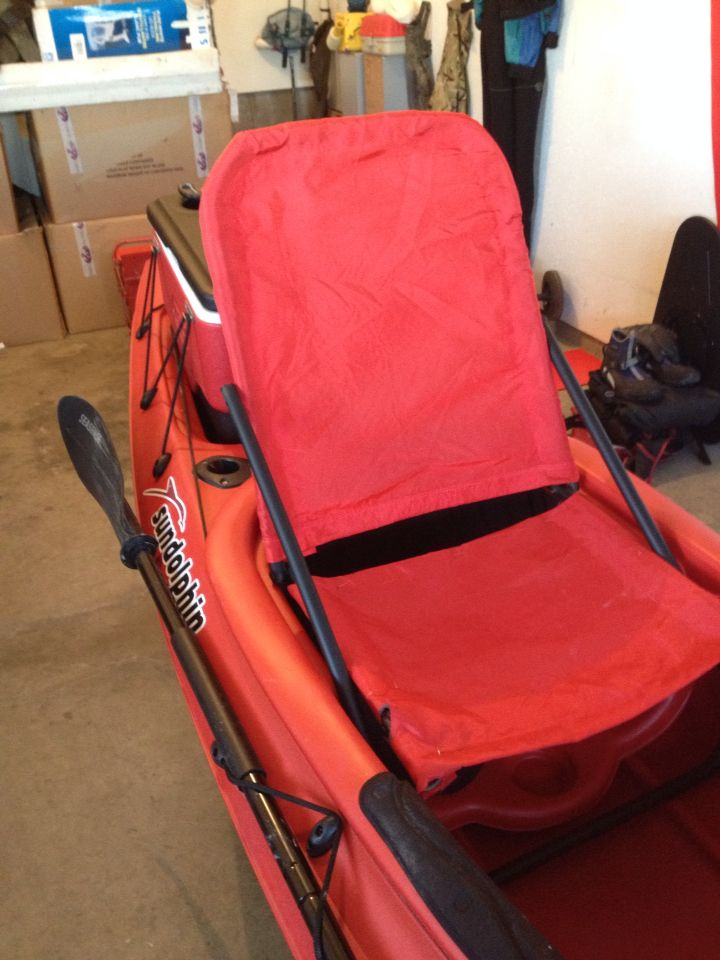 Diy Kayak Rack >> Seat assembled and re fitted | Sit in kayak, DIY high seat ...