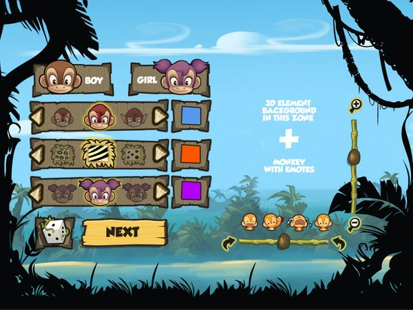 Monkey Quest - User Interface by Eric Bellefeuille, via Behance