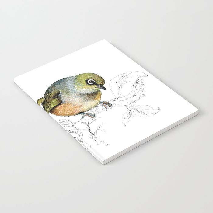 Buy Sylvereye - Waxeye bird Notebook by emiliegeant. Worldwide shipping available at Society6.com. Just one of millions of high quality products available.