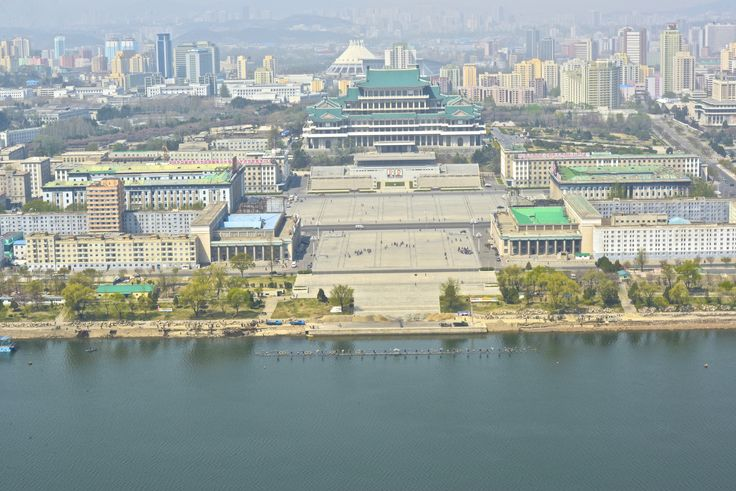 Pyongyang city - the main square for celebrations - photo from Juche tower