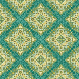 Joel Dewberry - Notting Hill Home Dec Sateen - Kaleidoscope in Basil