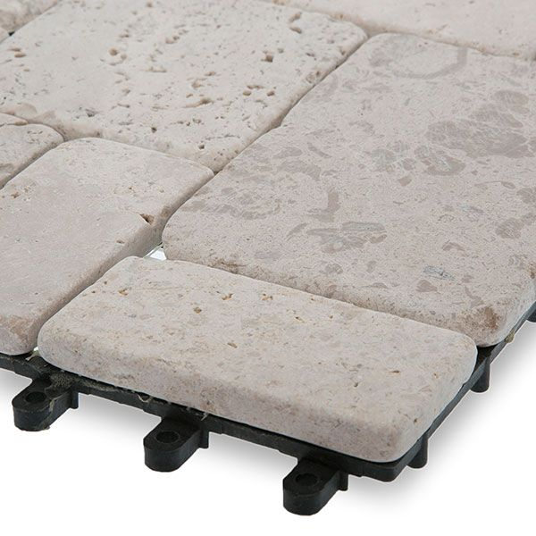 These stone deck tiles are fade resistant and requires little to no maintenance. Description from gardenwinds.com. I searched for this on bing.com/images