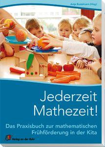 Jederzeit Mathezeit! Das Praxisbuch zur mathematischen Frühförderung in der Kita ++ Geordnet nach Entwicklungsstufen stellen die Autoren in kleinen Projekten die 6 Grundbausteine für mathematisches Verständnis vor: Sortieren & Klassifizieren; Muster, Symmetrie & Geometrie; Raumvorstellung & Raumorientierung; Messen & Wiegen; Statistik & grafische Darstellung; #Zählen & #Zahlen. Mit Praxistipps, großformatigen Farbfotos und Materialliste. #Kita #Kindergarten #Frühförderung