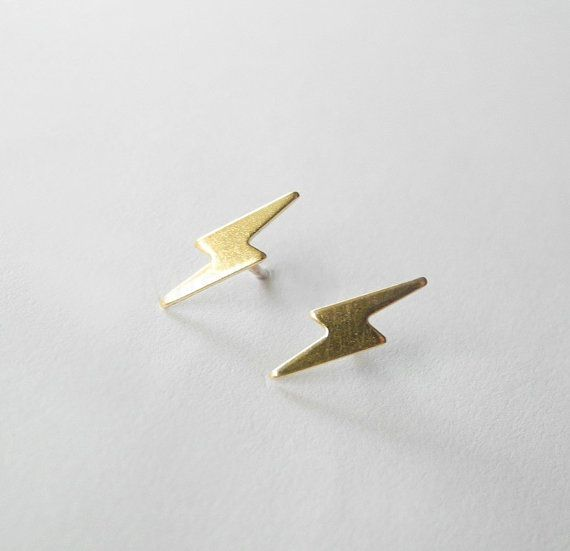 Lightning Bolt Earring Studs,Lighting Bolt Earrings,Harry Potter Jewelry,Valentines Day,Storm Thunder,Hypoallergenic Earring Studs (E194) on Etsy, $11.41 AUD