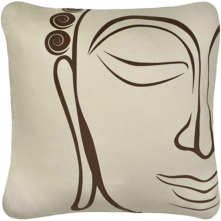 Buddha Face Pillow