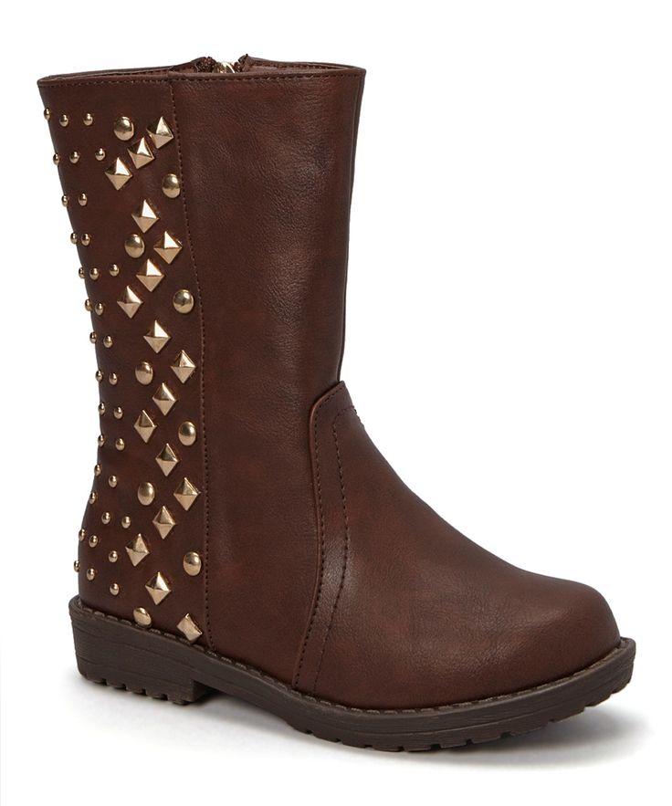 Brown Diamond Stud Boot