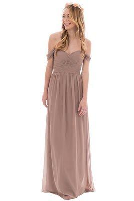 Kennedy Bridesmaid Dress in Latte Chiffon