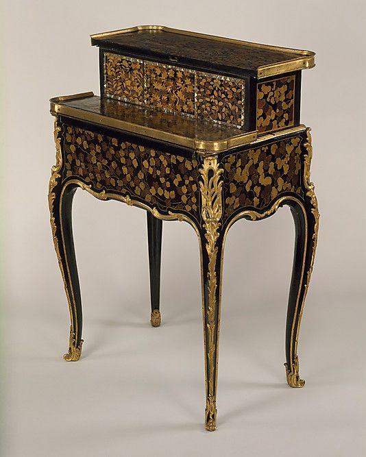 Mechanical table à la Bourgogne  René Dubois  (1737–1799, master 1755)  Date: ca. 1760