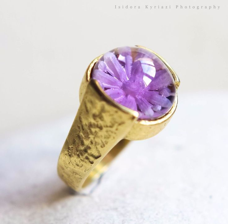 intaglio amethyst ring, sterling silver ring,flower ring, Greek jewelry #Engagement