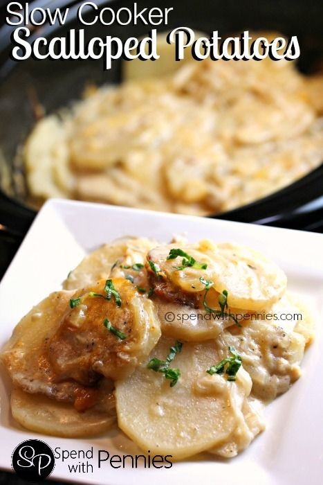 Slow Cooker Cheesy Scalloped Potatoes!