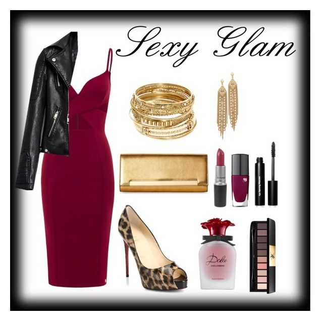 Glamoroso. by carlablasco on Polyvore featuring moda, Christian Louboutin, Yves Saint Laurent, ABS by Allen Schwartz, Capwell + Co, Bobbi Brown Cosmetics and Lancôme