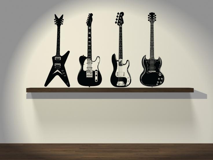 Guitarras electricas  $500.00  http://www.vinilosdivinos.com/tiendavinilos/musica/vinilo-decorativo-rock-guitarras-electricas-set