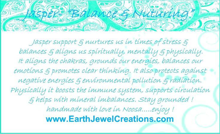 Jasper crystal energy jewelry