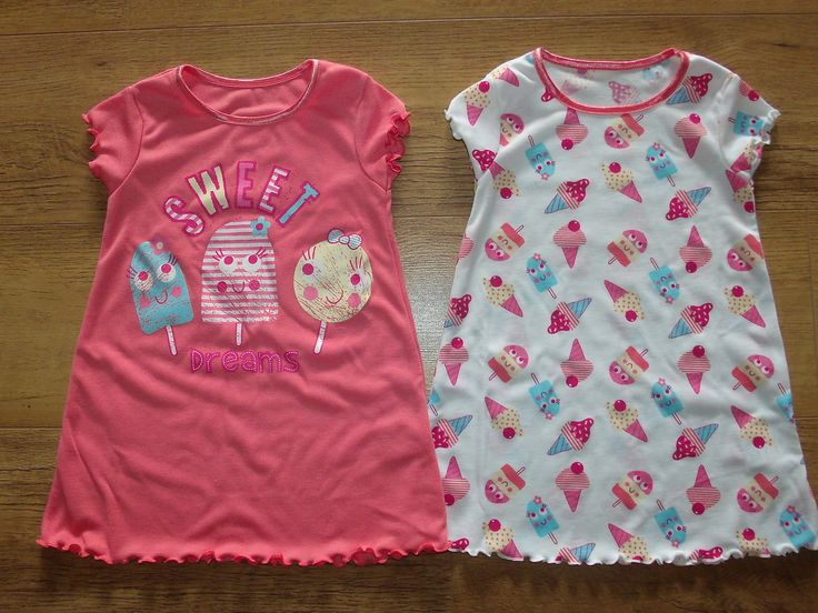Baby & Toddler Sleepwear Two Pack Girls Lolly Ice Nighties Sizes 9-18 Months uk.picclick.com