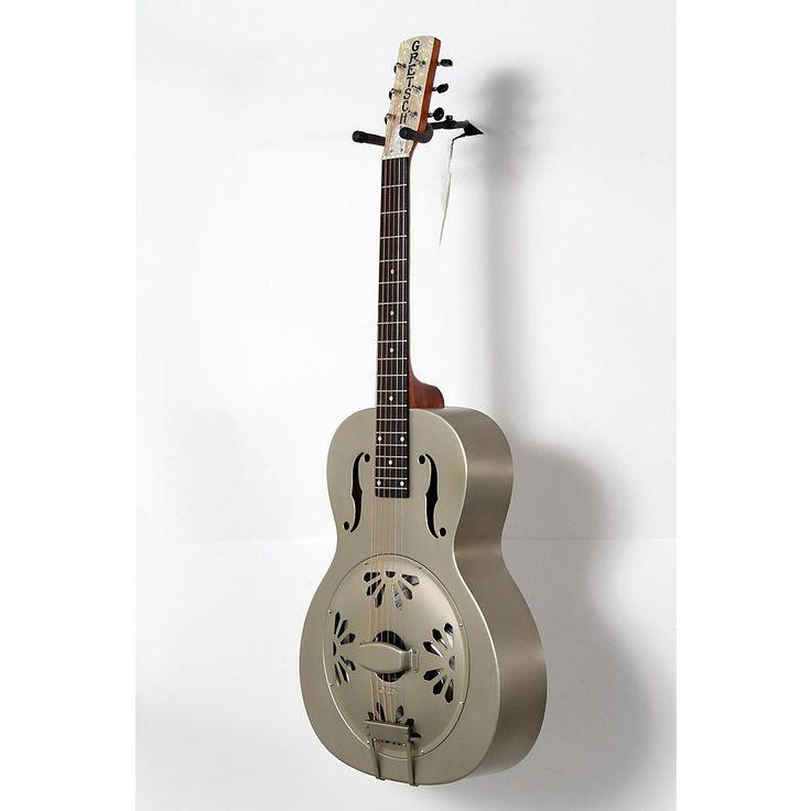 Gretsch Guitars Root Series G9201 Honeydipper Metal Round Neck Resonator Nickel Plated Brass Body 888365994079