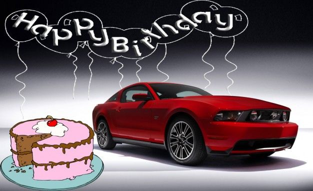 Happy+Birthday+Pics+With+Cars+Ford+Mustang+cakepins.com