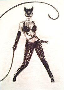 Catwoman - charcoal