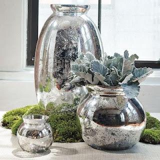 mercury glass knock off: Glasses Container, Mercury Glasses, Houses, Glasses Vase, Diy Mercury, Home Decor, Mercuryglass, Centerpieces, West Elm