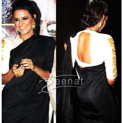neha dhupia saree with out blouse - Online Shopping for Designer Sarees by shopping palace