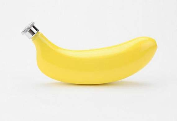 The Banana Flask Hides Alcohol Under a Healthy Disguise #food #art