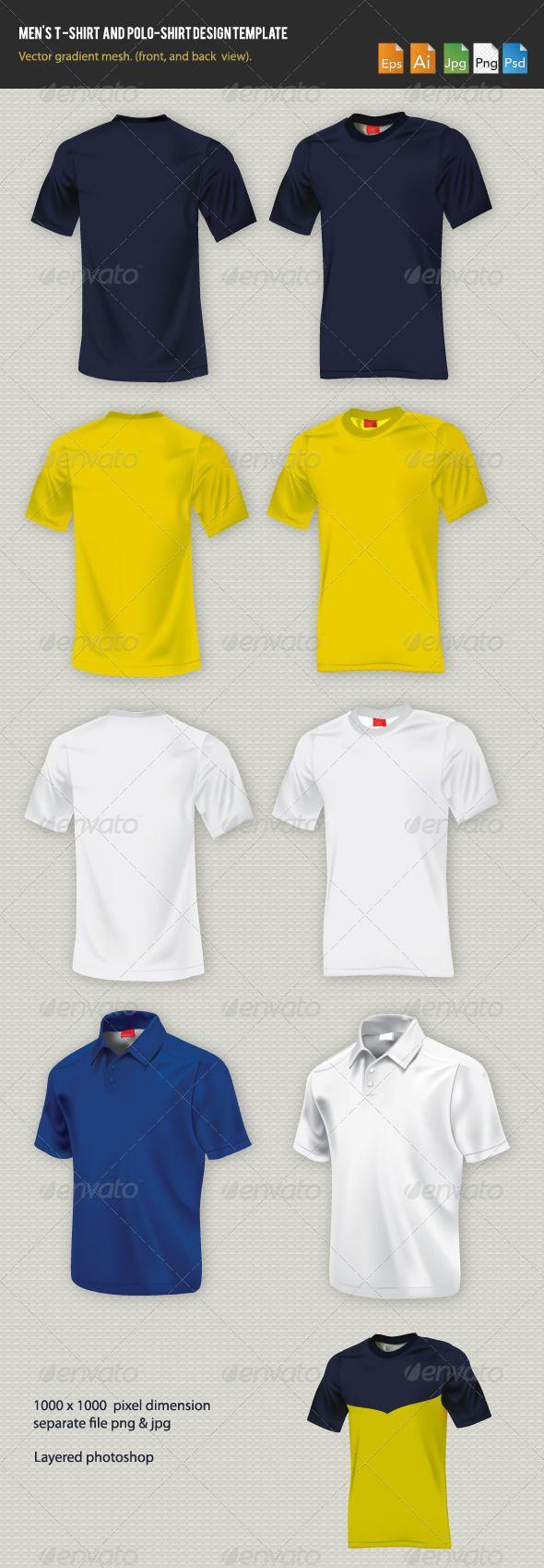 Shirt design photoshop template - Men S T Shirt Design Template