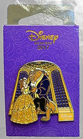 Beauty and the Beast Disney Chase Visa Rewards Exclusive Slider Movie Pin 2017