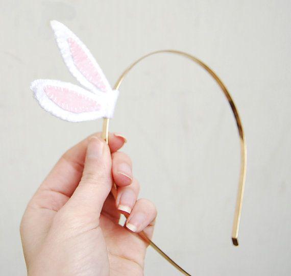 Easter bunny ears headband   be easy to make!