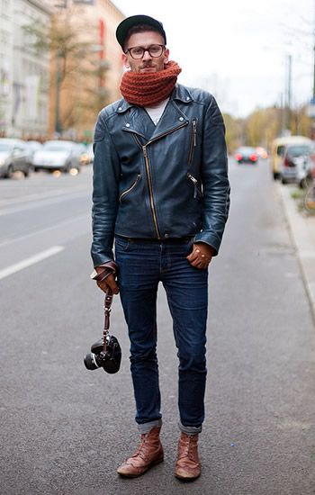 Anonymous's Style | Street Style Photos at FashionBeans.com- leather jacket, gloves and shoes