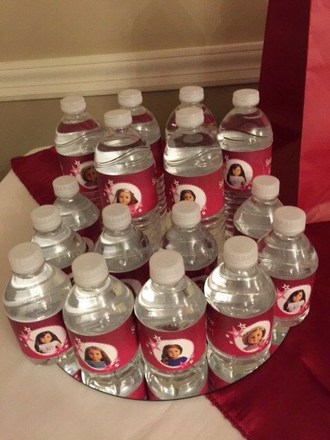 American girl doll birthday party ideas printable INSTANT DOWNLOAD water bottle labels favors Grace Isabelle Makenna Kit Saige Caroline