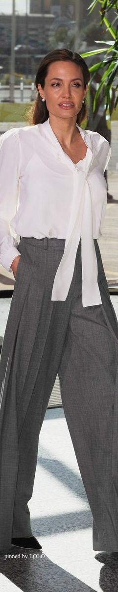 Angelina Jolie [love the trousers. could i pull that off?]