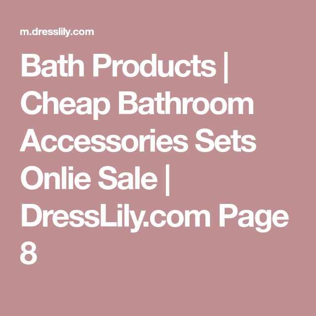 Bath Products | Cheap Bathroom Accessories Sets Onlie Sale | DressLily.com Page 8