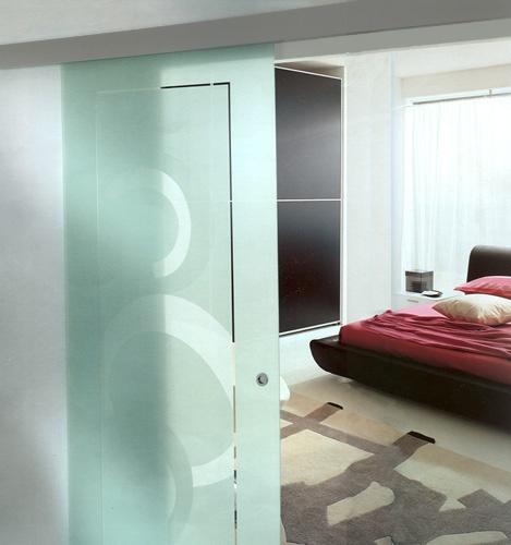Cristal templado esmerilado pinterest - Puertas de vidrio para interiores ...
