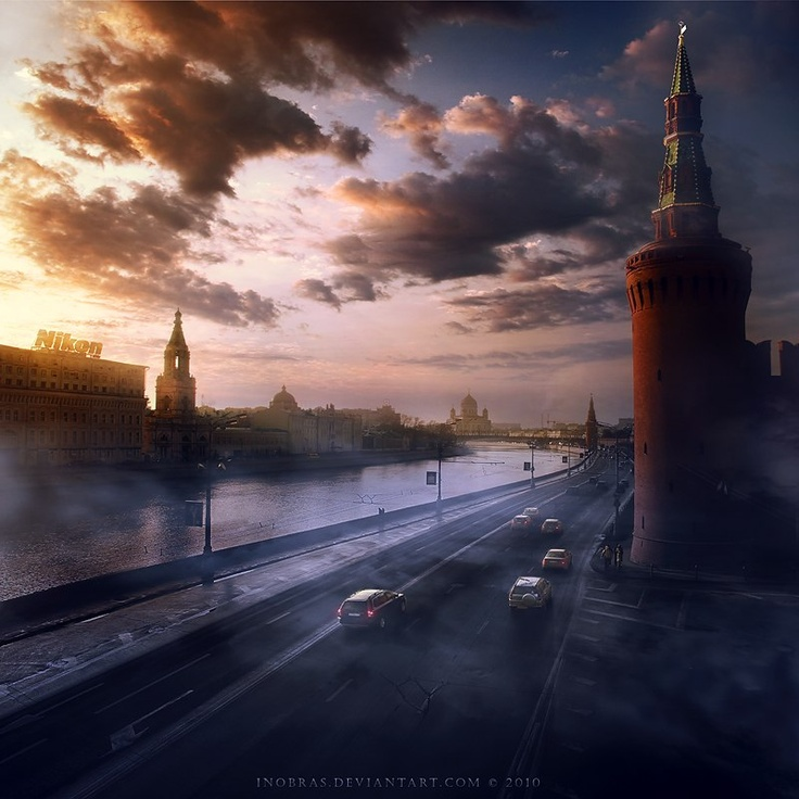 Moscow River and Kremlin Wall