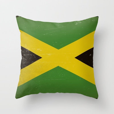 Vintage flag of Jamaica Throw Pillow by TilenHrovatic | Society6...love these for our Jamaica suite