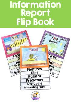 This Information Report Flip Book is designed to be used for a report about an animal. Each section has a lined page for writing and a picture page for a drawing; other than Life Cycle - just a drawing and Interesting Facts - just a writing page. I have included 3 different handwriting line options: * American lines * Australian dotted thirds * Plain lines
